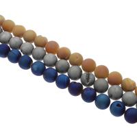 Druzy Beads, Klarer Quarz, rund, plattiert, natürliche & druzy Stil, keine, 20mm, Bohrung:ca. 1mm, 20PCs/Strang, verkauft per ca. 15.5 ZollInch Strang