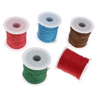 Wachsschnur, Gewachsten Baumwollkordel, mit Kunststoffspule, keine, 1mm, ca. 70m/Spule, verkauft von Spule