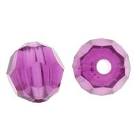 Transparente Acryl-Perlen, Acryl, facettierte, violett, 8mm, Bohrung:ca. 1mm, ca. 2450PCs/Tasche, verkauft von Tasche