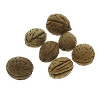 Buddhistische Perlen, Bodhi, originale Farbe, 14x15mm-18x19mm, Bohrung:ca. 2mm, 100PCs/Tasche, verkauft von Tasche