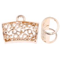 Zinklegierung Stiftöse Perlen, goldfarben plattiert, frei von Blei & Kadmium, 32x25x18mm, Bohrung:ca. 4mm, 10PCs/Tasche, verkauft von Tasche