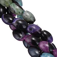 Natürliche Eis Quarz Achat Perlen, Eisquarz Achat, oval, keine, 14x10mm, Bohrung:ca. 1mm, Länge:ca. 13.5 ZollInch, 10SträngeStrang/Menge, ca. 26PCs/Strang, verkauft von Menge