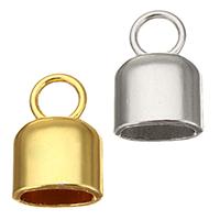 Messing Endkappe, plattiert, hochwertige Beschichtung und nie verblassen, keine, frei von Nickel, Blei & Kadmium, 12x19x8.50mm, Bohrung:ca. 5.5mm, 10x6mm, 100PCs/Menge, verkauft von Menge