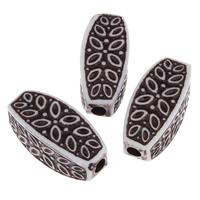 Antike Acrylperlen, Acryl, oval, antik imitieren, weiß, 13x30mm, Bohrung:ca. 3mm, ca. 130PCs/Tasche, verkauft von Tasche