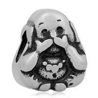 Buddhistische Perlen, 316 L Edelstahl, Charakter, ohne troll & Schwärzen, 10x12mm, Bohrung:ca. 4mm, 10PCs/Tasche, verkauft von Tasche