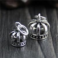 Bali Sterling Silber Anhänger, Thailand, Krone, verschiedene Größen vorhanden, Bohrung:ca. 3mm, 10PCs/Menge, verkauft von Menge