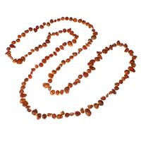 Natürliche Süßwasser Perle Halskette, Natürliche kultivierte Süßwasserperlen, Barock, rote Orange, 4-8mm, verkauft per ca. 42.5 ZollInch Strang