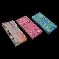 gemischte Materialien Zubehör, mit Kunststoff Kasten, Rechteck, facettierte, keine, frei von Nickel, Blei & Kadmium, 131x63x20mm, verkauft von Box