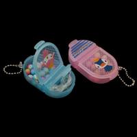 Kinder-DIY Saiten-Perlen-Set, Acryl, mit Eisenkette & Kunststoff Kasten & Kristall Faden, facettierte, keine, 41x71x18mm, verkauft von Box
