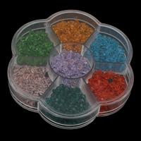 Doppelkegel Kristallperlen, Kristall, mit Kunststoff Kasten, transparent & facettierte, gemischte Farben, 103x17mm, verkauft von Box