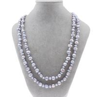 Natürliche Süßwasser Perle Halskette, Natürliche kultivierte Süßwasserperlen, Barock, zweifarbig, 3-4mm, 5-8mm, verkauft per ca. 47 ZollInch Strang