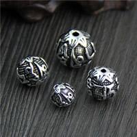 Buddhistische Perlen, Thailand, rund, om mani padme hum & verschiedene Größen vorhanden, verkauft von Menge