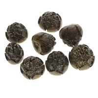 Buddhistische Perlen, Bodhi, Blume, geschnitzt, originale Farbe, 22x20mm-26x30mm, Bohrung:ca. 2mm, 50PCs/Tasche, verkauft von Tasche