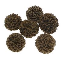 Buddhistische Perlen, Rudraksha, rund, originale Farbe, 31-41mm, Bohrung:ca. 1.5mm, 10PCs/Tasche, verkauft von Tasche
