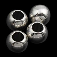 Verkupferter Kunststoff European Perlen, Trommel, Platinfarbe platiniert, ohne troll, 10x8mm, Bohrung:ca. 4mm, 1000PCs/Tasche, verkauft von Tasche