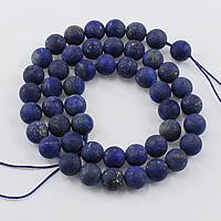 Lapislazuli Perlen, natürlicher Lapislazuli, rund, verschiedene Größen vorhanden & satiniert, Bohrung:ca. 1-2mm, Länge:ca. 15.5 ZollInch, verkauft von Menge