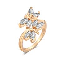 Gets® Finger Ring, Messing, Libelle, vergoldet, verschiedene Größen vorhanden & mit kubischem Zirkonia & facettierte, frei von Nickel, Blei & Kadmium, 12mm, verkauft von PC