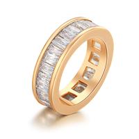 Gets® Finger Ring, Messing, vergoldet, verschiedene Größen vorhanden & mit kubischem Zirkonia & facettierte, frei von Nickel, Blei & Kadmium, 6mm, verkauft von PC