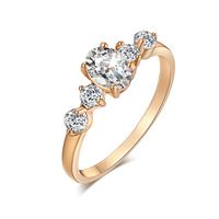 Gets® Finger Ring, Messing, vergoldet, verschiedene Größen vorhanden & mit kubischem Zirkonia & facettierte, frei von Nickel, Blei & Kadmium, 7mm, verkauft von PC