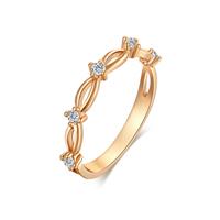 Gets® Finger Ring, Messing, vergoldet, verschiedene Größen vorhanden & mit kubischem Zirkonia, frei von Nickel, Blei & Kadmium, 3mm, verkauft von PC