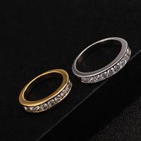 Gets® Finger Ring, Messing, plattiert, verschiedene Größen vorhanden & mit kubischem Zirkonia, keine, frei von Nickel, Blei & Kadmium, 4mm, verkauft von PC
