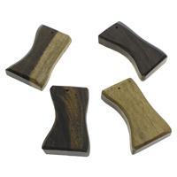 Holz Anhänger, originale Farbe, 38x65x13mm-42x65x14mm, Bohrung:ca. 1.5mm, 10PCs/Tasche, verkauft von Tasche
