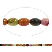 Geknister Achat Perle, oval, gemischte Farben, 12x16mm, Bohrung:ca. 1mm, ca. 23PCs/Strang, verkauft per ca. 15 ZollInch Strang