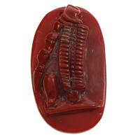 Koralle Anhänger, Natürliche Koralle, natürlich, geschnitzed, rot, 24x44x8mm, Bohrung:ca. 1mm, verkauft von PC