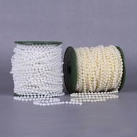 Garland-Strang Perlen, ABS-Kunststoff-Perlen, mit Kunststoffspule, rund, keine, 5mm, 30m/PC, 30m/PC, verkauft von PC