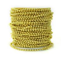 Garland-Strang Perlen, Acryl, mit Kunststoffspule, rund, goldfarben plattiert, 5mm, 30m/PC, 30m/PC, verkauft von PC