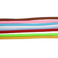 Kautschukband, Gummi, Vollton, keine, 4mm, 10m/Strang, verkauft von Strang