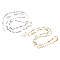 Eisen Kette Halskette, mit Verlängerungskettchen von 7cm, plattiert, Oval-Kette, keine, frei von Blei & Kadmium, 7x9x1.50mm, verkauft per ca. 29.5 ZollInch Strang