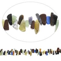 Edelstein-Span, Edelstein, Klumpen, 6x10mm-16x25mm, Bohrung:ca. 0.8mm, Länge:ca. 15 ZollInch, 5SträngeStrang/Tasche, ca. 100PCs/Strang, verkauft von Tasche
