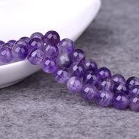 Amethyst Perle, rund, natürlich, Februar Birthstone & verschiedene Größen vorhanden, Bohrung:ca. 1-2mm, verkauft per ca. 15 ZollInch Strang
