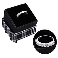kiss me® Finger Ring, 925 Sterling Silber, mit Karton-box, Micro pave Zirkonia, 4mm, Größe:7, verkauft von PC