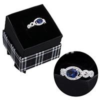 kiss me® Finger Ring, 925 Sterling Silber, mit Karton-box, Micro pave Zirkonia & facettierte, 8.50mm, Größe:6, verkauft von PC