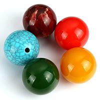 Harz Schmuckperlen, rund, Imitation Edelstein, keine, 30mm, Bohrung:ca. 3mm, 20PCs/Menge, verkauft von Menge
