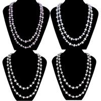 Natürliche Süßwasser Perle Halskette, Natürliche kultivierte Süßwasserperlen, Kartoffel, keine, 5-6mm, 9-10mm, verkauft per ca. 51.5 ZollInch Strang