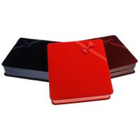 Karton Halskettenkasten, mit Baumwollsamt, Rechteck, keine, 165x45x175mm, verkauft von PC