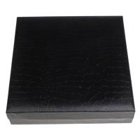 Karton Halskettenkasten, mit PU Leder & Baumwollsamt, Rechteck, 185x45x193mm, verkauft von PC