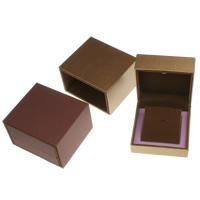 Karton Halskettenkasten, mit PU Leder & Baumwollsamt, Quadrat, keine, 100x55x100mm, verkauft von PC