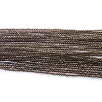 Natürliche Rauchquarz Perlen, rund, verschiedene Größen vorhanden & facettierte, Länge:ca. 16 ZollInch, verkauft von Menge