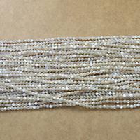 Natürliche Süßwasser Muschel Perlen, rund, verschiedene Größen vorhanden, Bohrung:ca. 0.5mm, Länge:ca. 15.5 ZollInch, verkauft von Menge