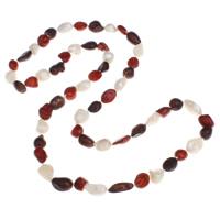 Natürliche Süßwasser Perle Halskette, Natürliche kultivierte Süßwasserperlen, Barock, farbenfroh, 9-11mm, verkauft per ca. 30.5 ZollInch Strang