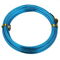 Aluminium Draht, Aluminiumdraht, Elektrophorese, blau, 1.50mm, 10PCs/Tasche, ca. 12m/PC, verkauft von Tasche
