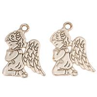 Charakterform Zinklegierung Anhänger, Engel, vergoldet, frei von Blei & Kadmium, 18x24x1.50mm, Bohrung:ca. 2mm, 20PCs/Tasche, verkauft von Tasche