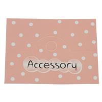 Anzeigenkarte, Papier, Rechteck, mit Brief Muster, Rosa, 65x50mm, 200PCs/Tasche, verkauft von Tasche