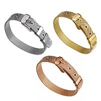 Edelstahl Schmuck Armband, plattiert, einstellbar, keine, 10mm, verkauft per ca. 8.5 ZollInch Strang