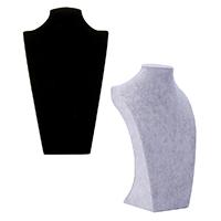 Leder Halsketteständer, Baumwollsamt, mit Gips, Büste, keine, 210x340x120mm, 3PCs/Menge, verkauft von Menge