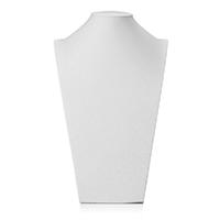 Leder Halsketteständer, PU Leder, mit Gips, Büste, weiß, 210x340x120mm, verkauft von PC